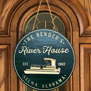 Personalized River House Sign, Boat House Sign, Lake House Signs, Wood Signs, Carved Sign, Personalized Sign, Lake House Decor, Boating Sign