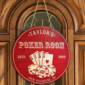 Poker Room Sign, Man Cave, Bar Signs, Carved Sign, Poker Sign, Game Room Signs, Personalized Signs, Poker, Bar Sign, Cards