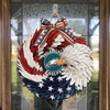 AMERICAN EAGLE WREATH WITH Philadelphia Eagles - HOME DECOR