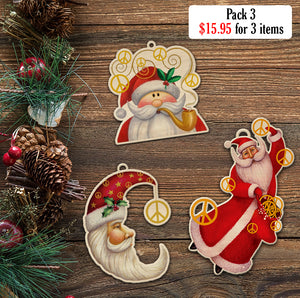 Santa Peace Ornament