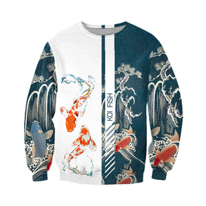 Koi fish 3D All Over Printed Hoodie, T-Shirt, Sweater danh141201