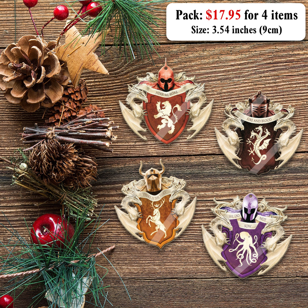 Christmas Mica Ornaments For Real Fan Of GOT