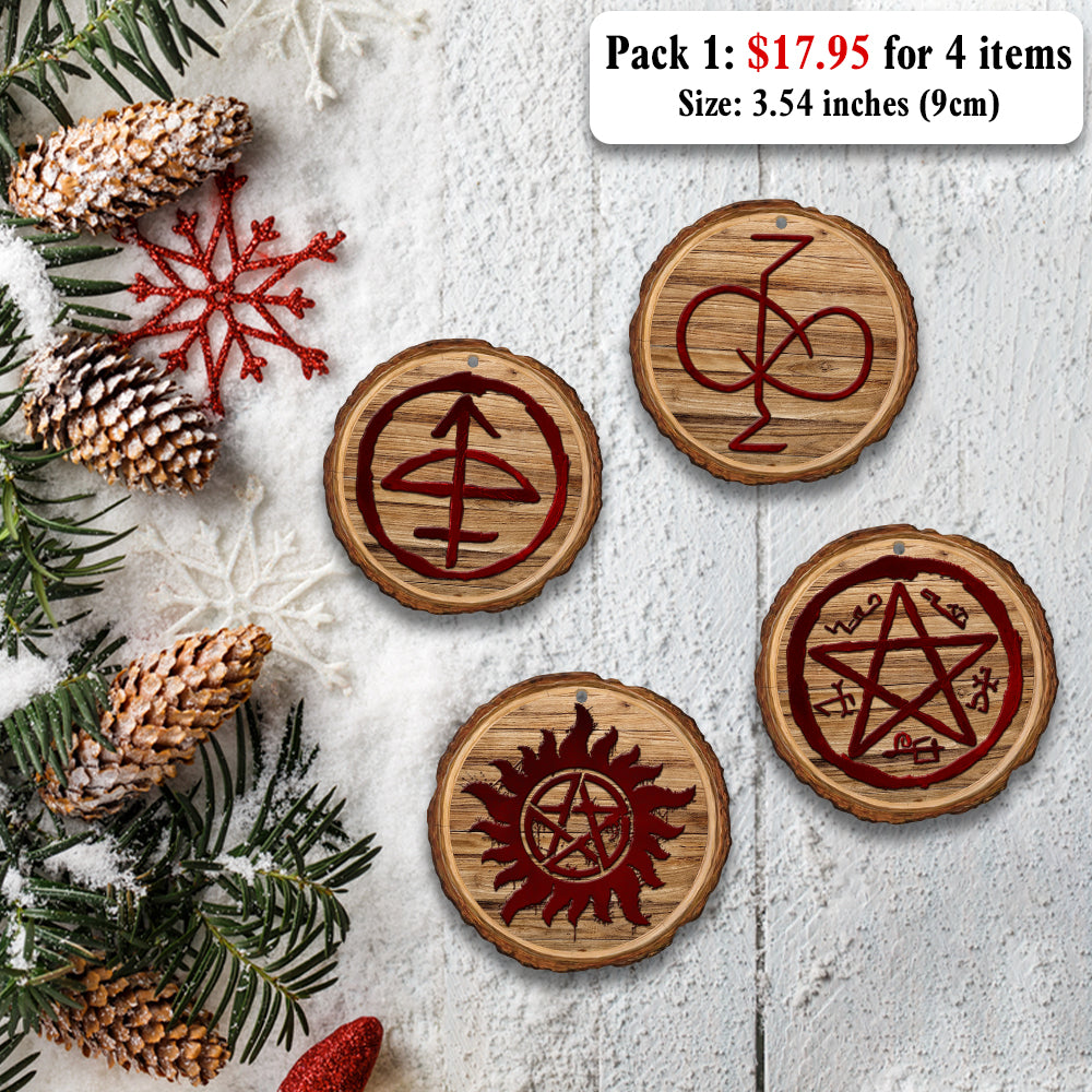 Christmas Wood Ornaments Super