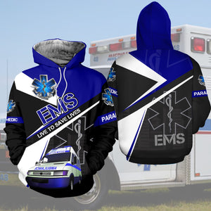 EMS Live To Save Lives 3D All Over Printed Hoodie, T-Shirt, Sweater nah010402