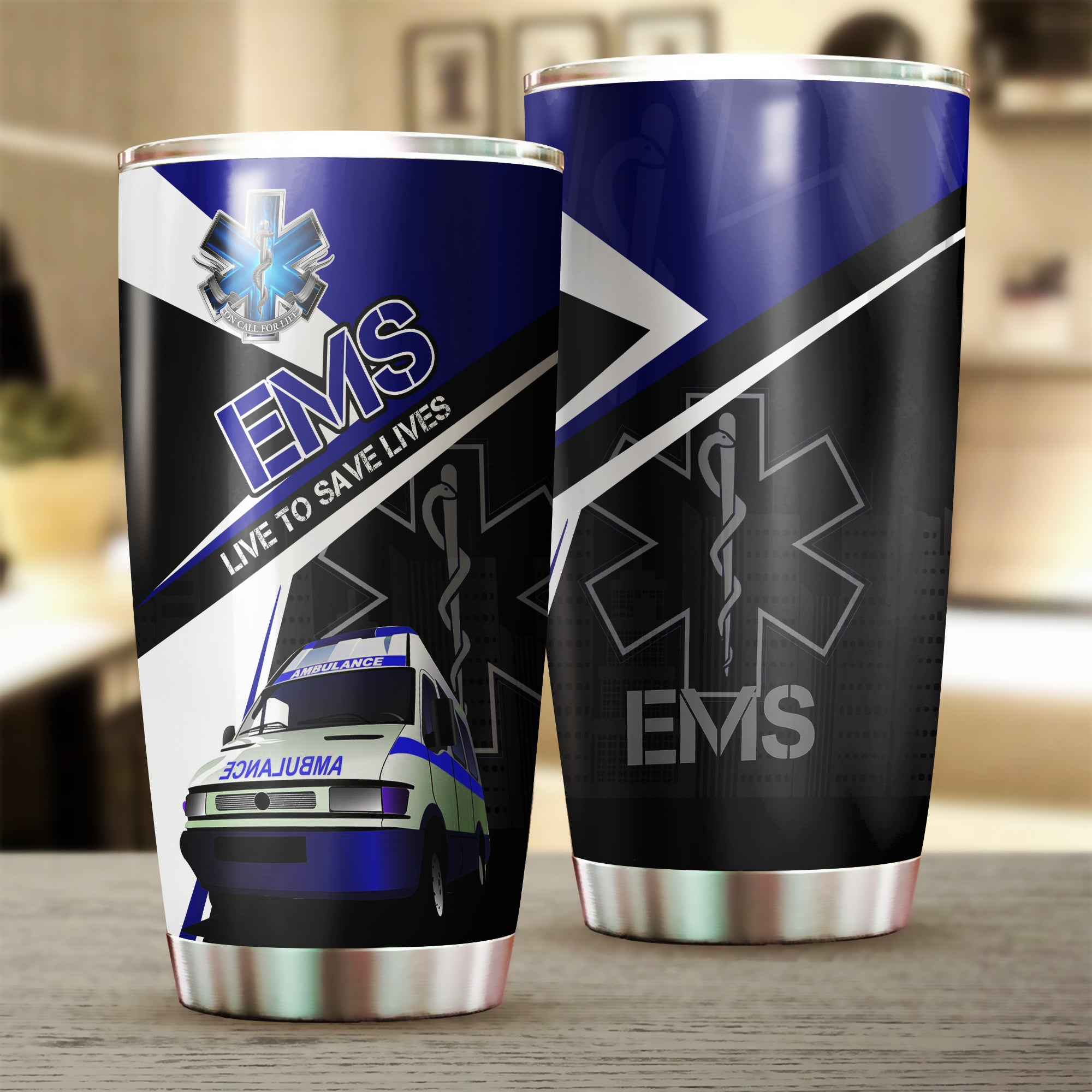 EMS Live To Save Lives Stainless Steel Tumbler nah010403