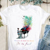 Music not to hear Cotton Tshirt, V-neck Tshirt, Missy Tshirt