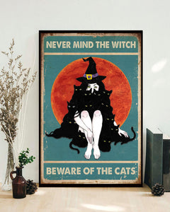 Beware of the cats Matte Poster