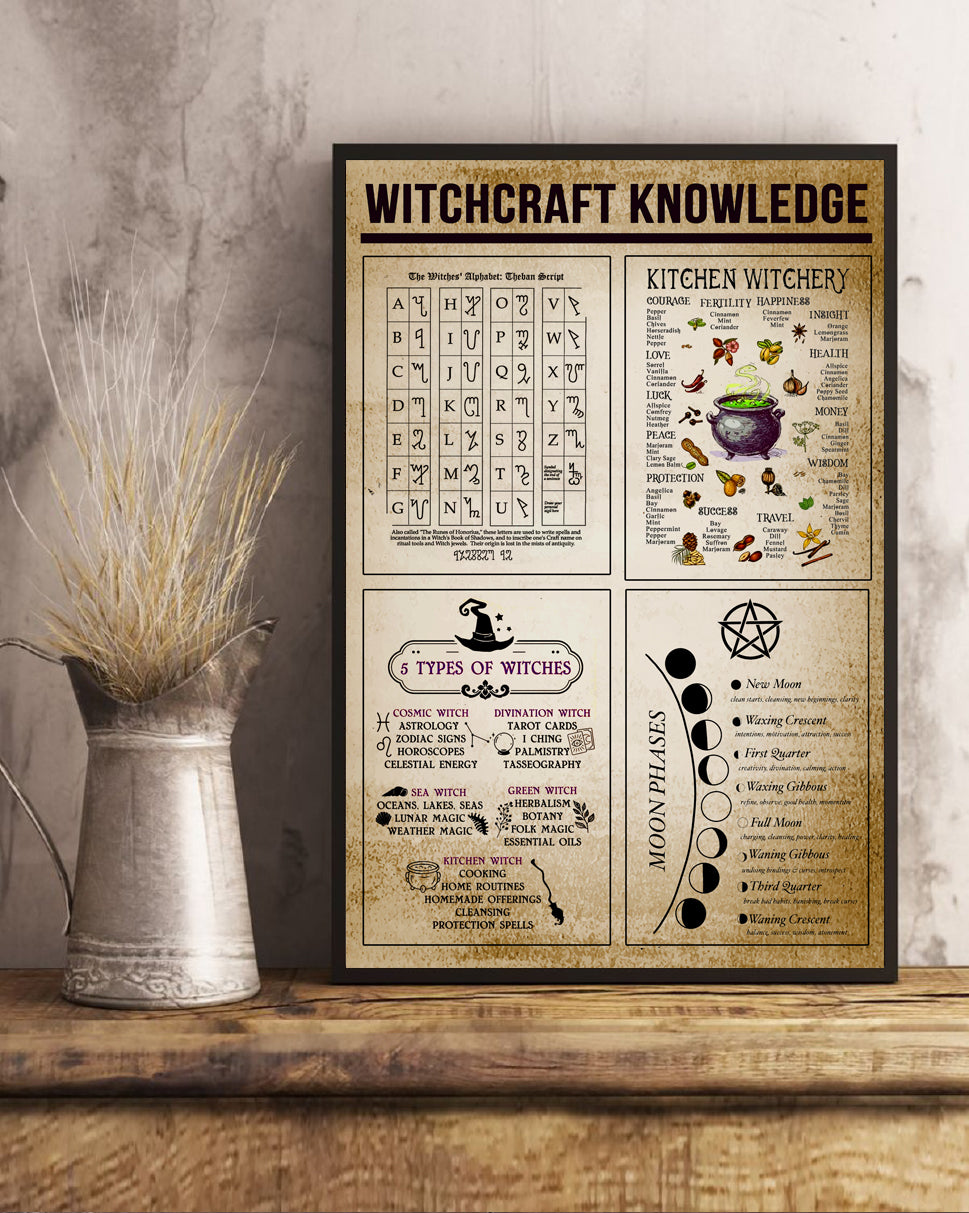 Witchcraft knowledge Matte Poster