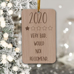 Our First Pandemic 2020 - Engraved Wooden Funny Pandemic Christmas Gift, Funny Holiday Gift - thvh07112011