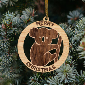 Australian Christmas Tree Wooden Ornaments