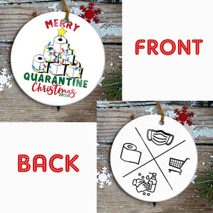 Quarantine Year Mica Ornament
