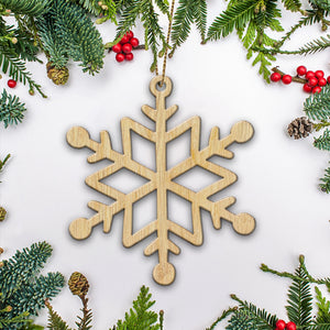 Mica Snowflakes Christmas Ornament