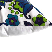 Retro blue/green cushion cover