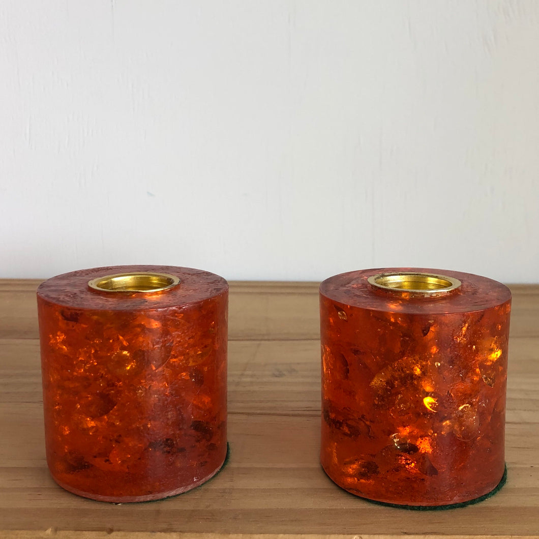 Crystal Craft candle holders