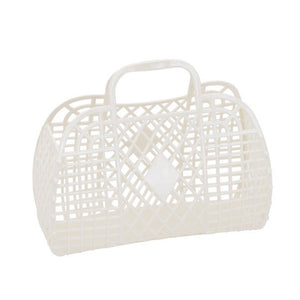 Sun Jellies Retro basket small CREAM
