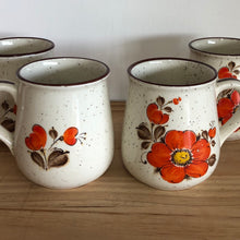 Set of 4 floral mugs