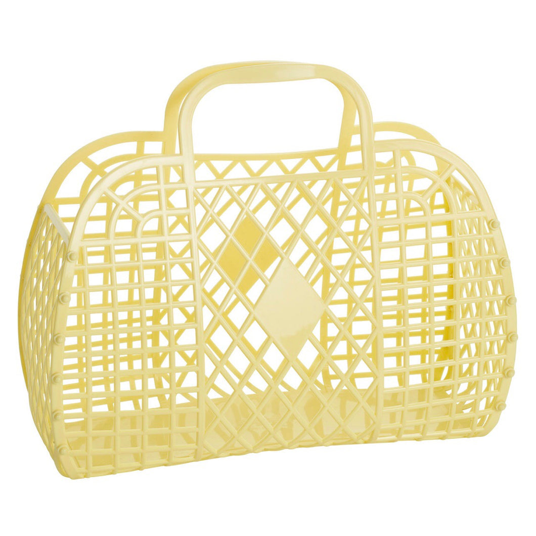 PRE ORDER Sun Jellies Retro basket large YELLOW