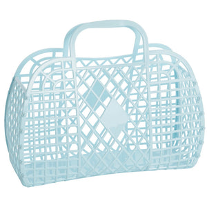 Sun Jellies Retro basket large PALE BLUE