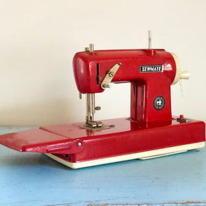 Sewmate vintage tin toy sewing machine
