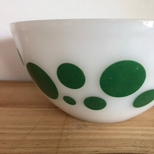 Pyrex green Polka Dot 8 inch bowl
