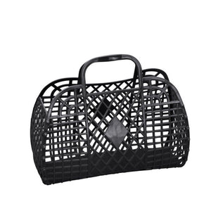 Sun Jellies Retro basket small BLACK