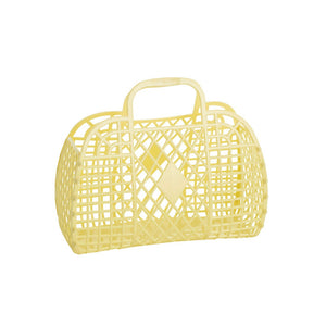 PRE ORDER Sun Jellies Retro basket small YELLOW