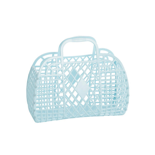 Sun Jellies Retro basket small PALE BLUE