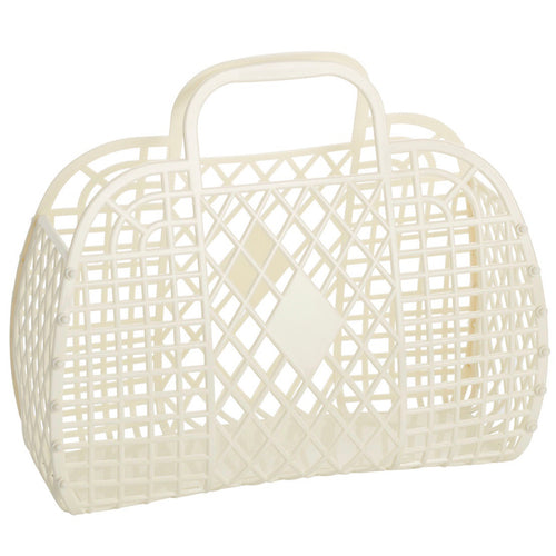 Sun Jellies Retro basket large CREAM
