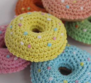 Crochet toy donut