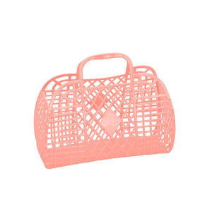Sun Jellies Retro basket small PEACH