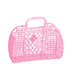 Sun Jellies Retro basket small BUBBLEGUM PINK
