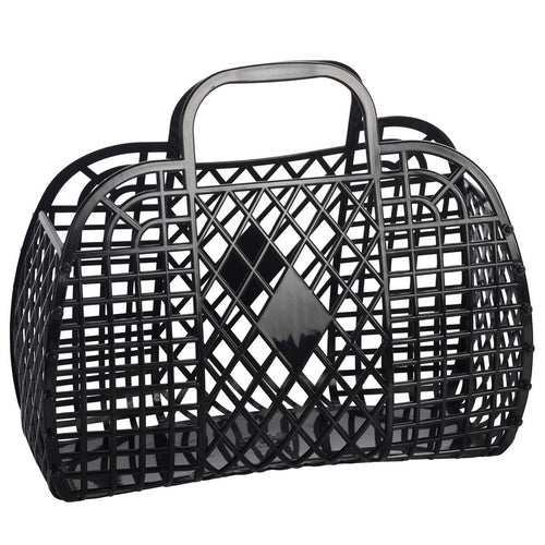 Sun Jellies Retro basket large BLACK