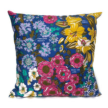 Garden Flowers vintage tea towel cushion cover