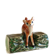 Bambi log planter