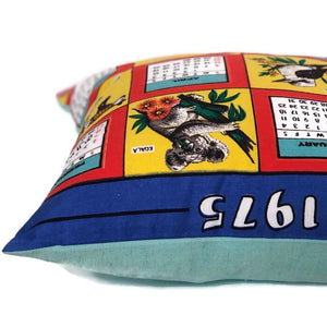 Australiana 1975 Calender tea towel cushion cover