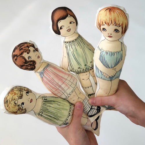 Paper doll softie
