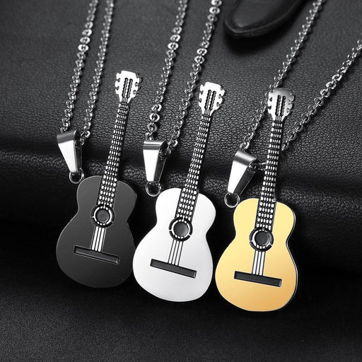 Guitar Necklace with Hip Hop Music Style