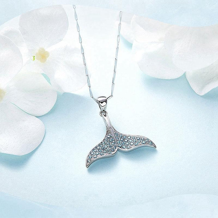 Mermaid Dolphin Fishtail Pendant Necklace