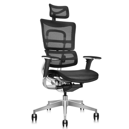 Ergonomic Office Chair with Wrapping Headrest and Tilt Limiter | Backrest Height Adj | Headrest Height Adj | Seat Depth Adj | 3D Armrests Adj