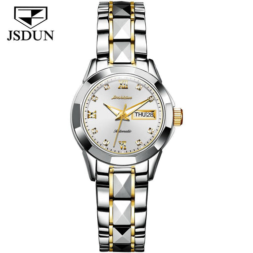 Tungsten Steel Waterproof Automatic Mechanical Business Men's And Women's Watches