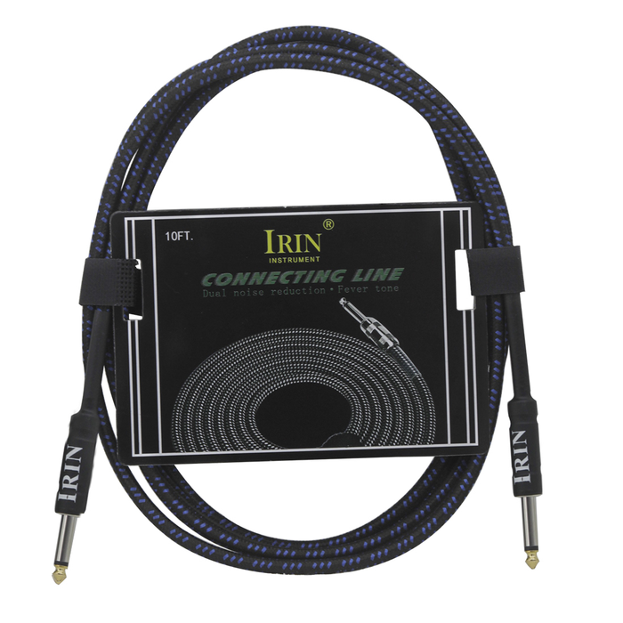 IRIN 6m/20ft 6.35mm Male to Male Straight Braided AMP Instruments Audio Cable
