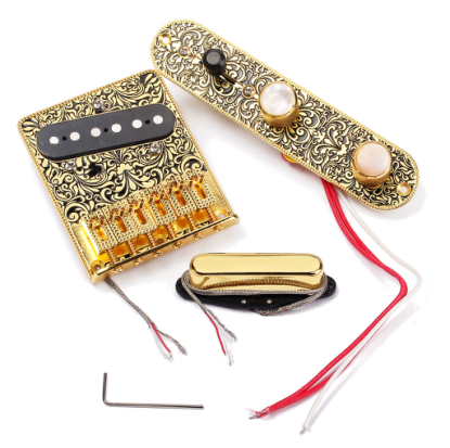 TL Guitar Bridge Single Coil Neck Pickup Volume Control Plate Circuit Set