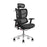 Ergonomically designed office chair with adjustable headrest and inclination limitation device Aluminum frame / base with standard carpet rolls