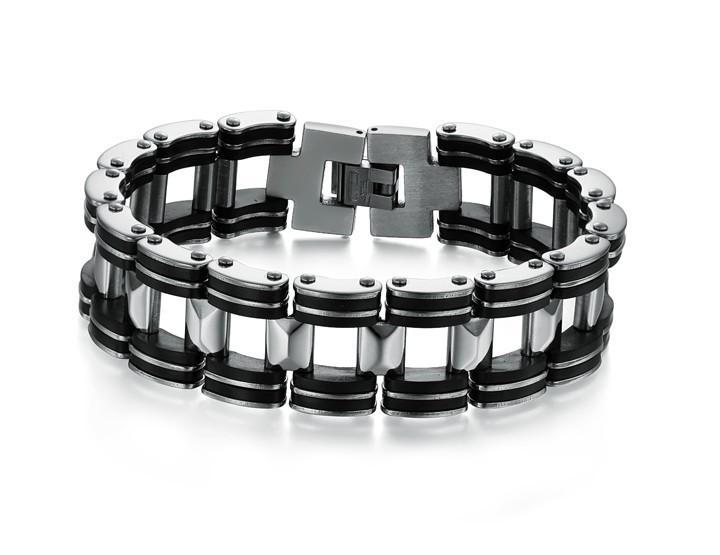 Black Strip Stainless Steel Bracelet - Florence Scovel - 2