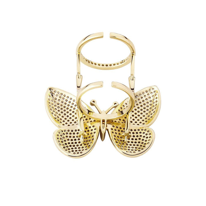Hip Hop Butterfly Rings