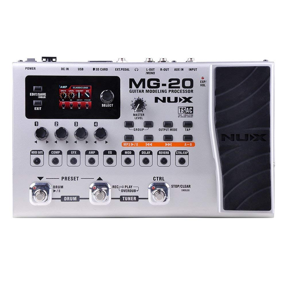 NUX MG-20 Electric Guitar Multi-effects Processor with Drum Machine