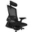 MOOJIRS Ergonomic office chair with adjustable cushion depth | Mesh backrest | Adjustable lumbar support | Adjustable 3D armrest|Adjustable chair back elasticity and tilt angle|Standard carpet casters
