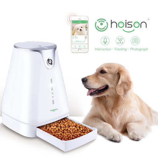 Hoison Smart feeder Pet Dog and Cat  Automatic Feeder, HD Camera for Voice and Video Recording
