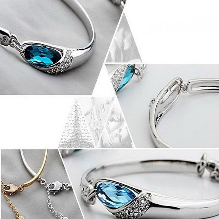 Angel's tears Blue Crystal Bracelet