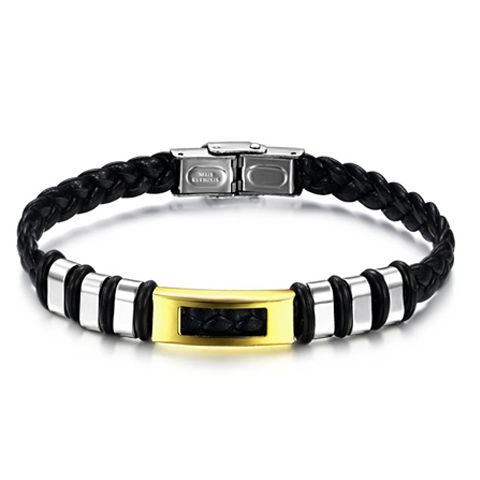 Golden Zebra Stainless Steel Men's Bracelet - Florence Scovel